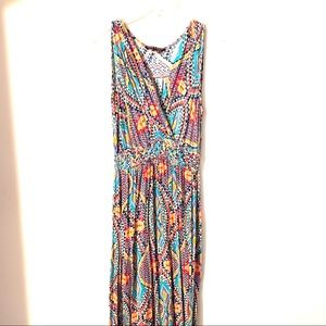 Cable & Gauge Multi-Color Maxi Dress | Size Small